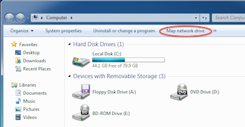 Choose Map Network Drive...
